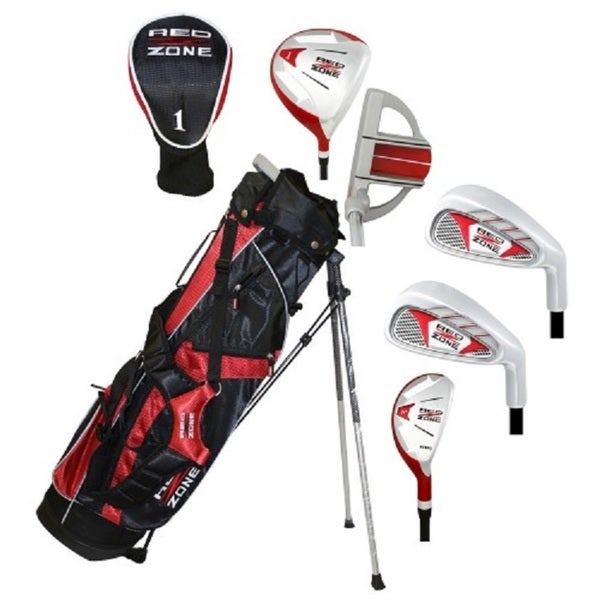 MOG 5 Piece Red Zone Golf Set/Stand Bag, Ages 12 and up
