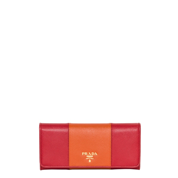 8f734fe7cb75 Shop Prada Bicolor Flap Wallet - Free Shipping Today - Overstock ...
