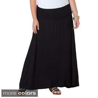 Sealed With a Kiss California Women's Plus-size Fold-over Maxi Skirt