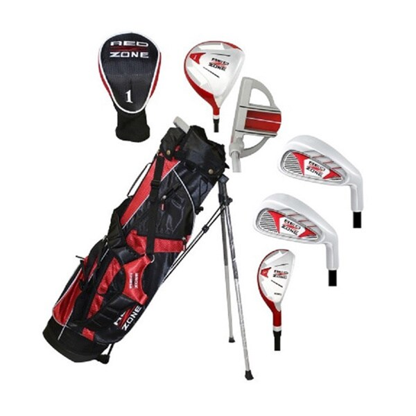 MOG 5 Piece Red Zone Golf Set/Stand Bag, Ages 8-11
