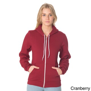 American Apparel Unisex Flex Fleece Zip Hoodie (Option: Cranberry - XS)