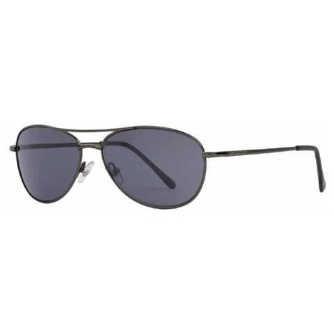 Anarchy 'OTB' Polarized Metal Aviator Sunglasses