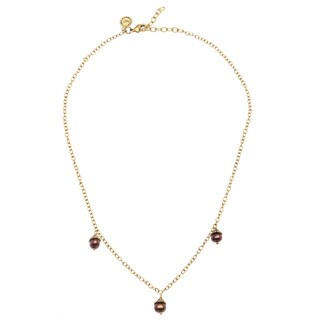 Annabelle Chocolate Freshwater Pearl Trio Necklace