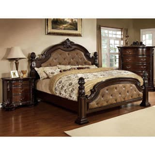 king poster bedroom sets. Furniture of America Kassania Luxury 3 piece Leatherette Bed Set Size King Poster Bedroom Sets For Less  Overstock com