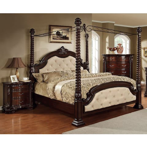 Furniture of America Vace Traditional 2-piece Canopy Bedroom Set