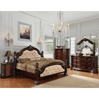 king poster bedroom sets. Furniture of America Kassania Luxury 4 piece Leatherette Bedroom Set Size King Poster Bed Sets For Less  Overstock com