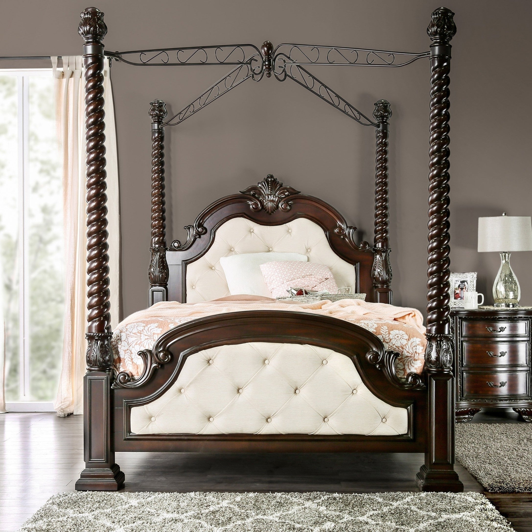 Kassania Traditional Poster Canopy Bed By Foa