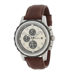 Fossil Men's FS4829 Dean Brown Leather Chronograph Watch