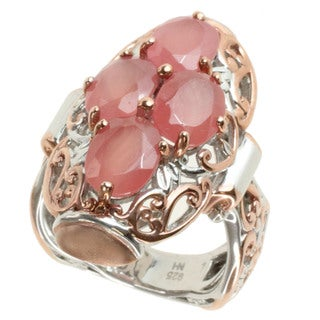 Michael Valitutti Two-tone Rhodocrosite Ring