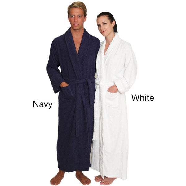 Shop NDK New York Unisex Full-length Terry Cloth Bathrobe - Free ... 724b6bddf