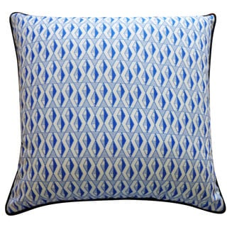 Geo Fish Blue Pillow