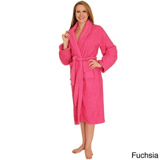 NDK New York Women's Shawl Collar Terry Cloth Bathrobe