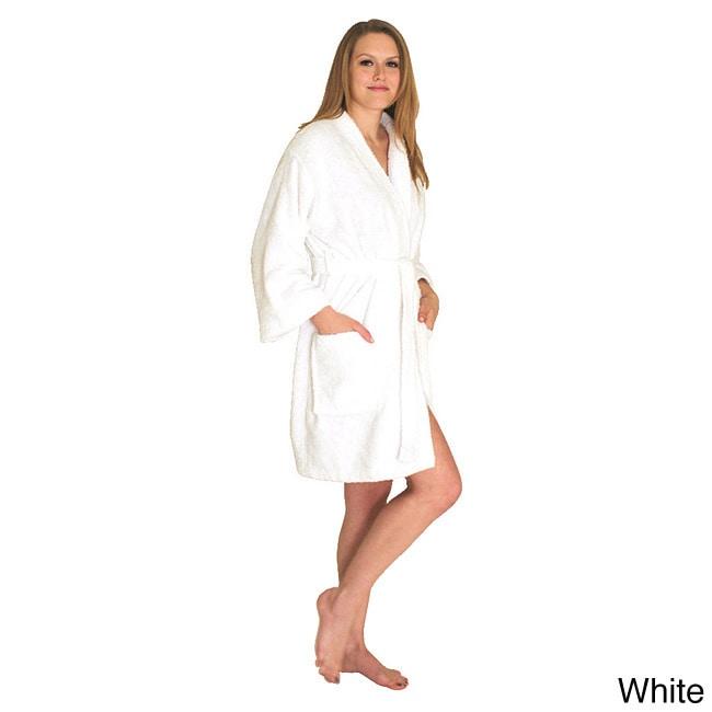 NDK New York Women's Kimono Style Short Terry Cloth Robe ...
