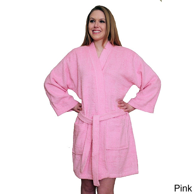 NDK New York Women's Kimono Style Short Terry Cloth Robe ...