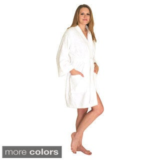 NDK New York Women's Kimono Style Short Terry Cloth Robe