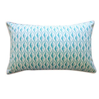 Geo Fish Teal Pillow