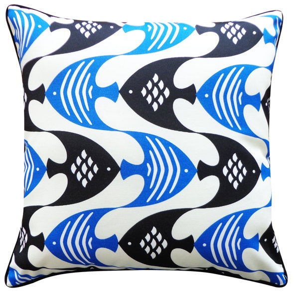 Handmade Fly Blue Pillow