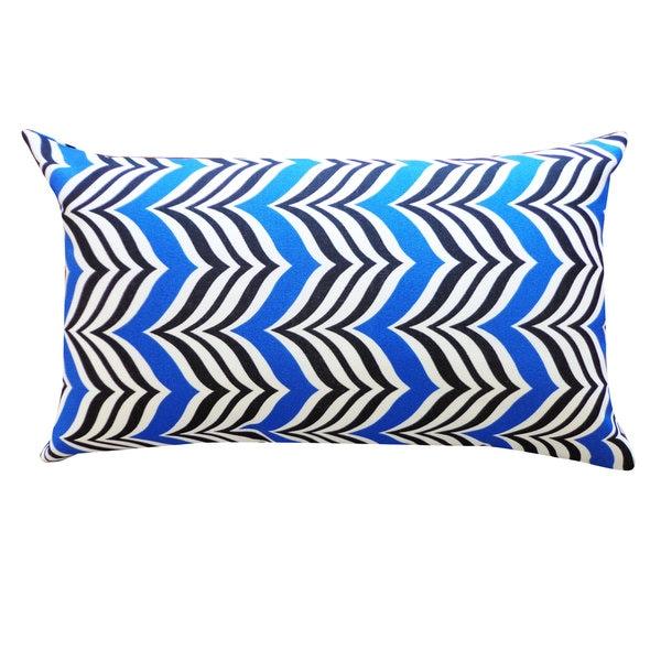 Handmade Mosque Blue Black Pillow