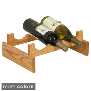 Dakota 3-bottle Stackable Wood Wine Rack
