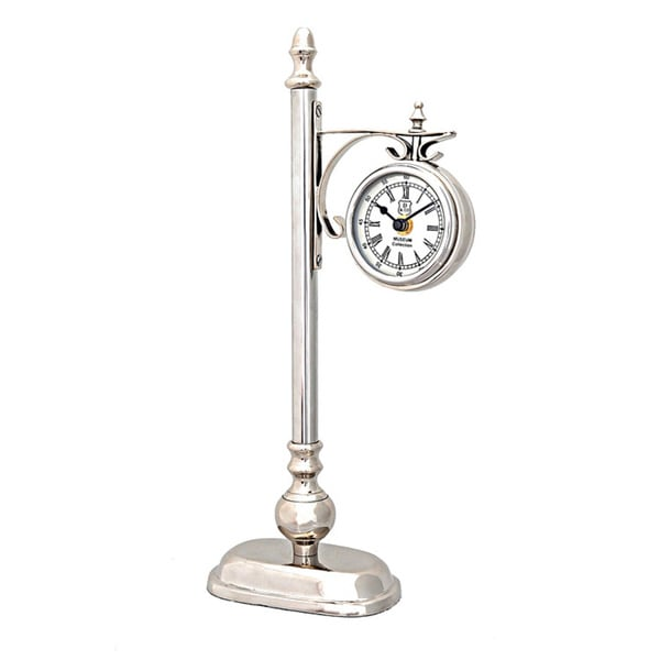 Silvertone Lamp Post 1-sided Clock