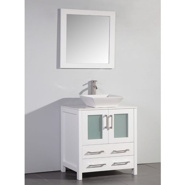 Shop White Artificial Stone Top 30-inch Vessel Sink White Bathroom on 30 inch vanity mirror, 30 inch bathroom vanity cottage style, 30 inch bathroom vanity set, 30 inch bathroom vanity espresso, 30 inch single bathroom vanities, 30 inch bathroom vanities with matching cabinet, 30 inch bathroom vanity modern, 30 bathroom vanity cottage white, 30 inch bathroom vanity cabinet, 30 inch bathroom vanity with bottom drawer, 30 inch vanity countertops, 30 inch bathroom vanity combo, lowe's bathroom vanities white, 30 inch bathroom vanities lowe's, 30 inch single sink vanities, 24 bathroom vanity with top in white,