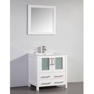 Ceramic Top 30-inch Sink White Bathroom Vanity and Matching Framed Mirror|https://ak1.ostkcdn.com/images/products/9170370/Ceramic-Top-30-inch-Sink-White-Bathroom-Vanity-and-Matching-Framed-Mirror-P16347143.jpg?impolicy=medium