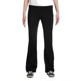 Alo Women's Black Solid Jersey-knit Pants