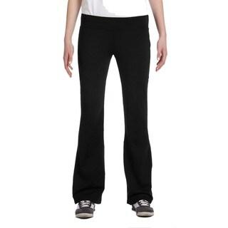 Alo Women's Black Solid Jersey-knit Pants