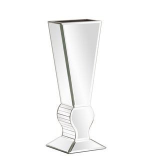 Small Silver Mirrored Glass Vase