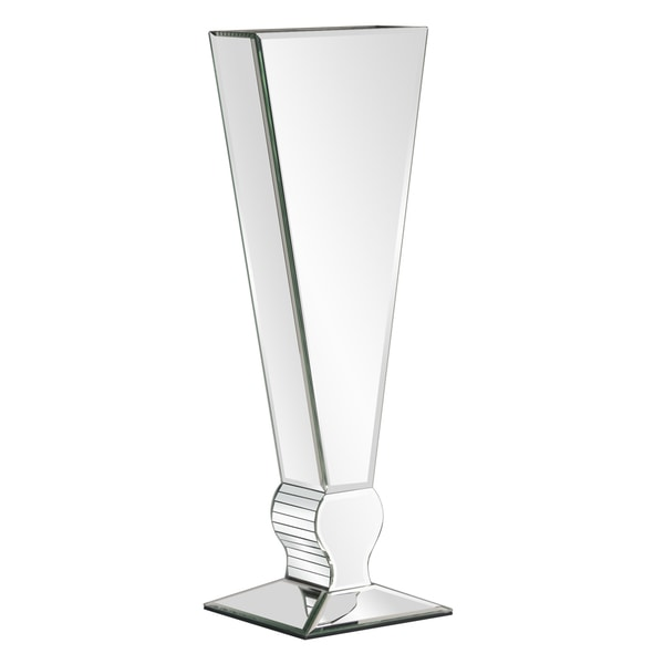 Shop Tall Mirrored V Shaped Glass Vase Free Shipping Today