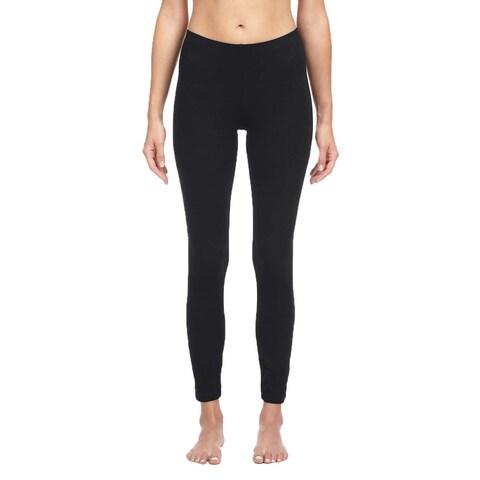 Bella Women's Black Cotton/ Spandex Leggings