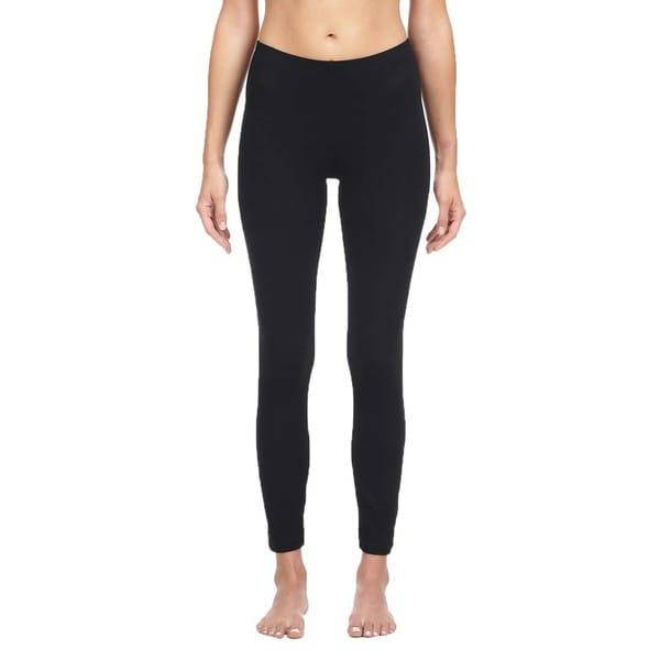 16e8c27a41bd Shop Bella Women's Black Cotton/ Spandex Leggings - Free Shipping On ...