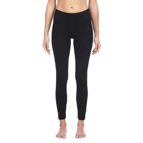Shop Bella Women S Black Cotton Spandex Leggings On Sale Overstock 9170455