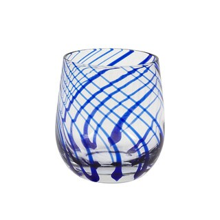 Hand-crafted Marbella Rocks Glasses (Set of 4)
