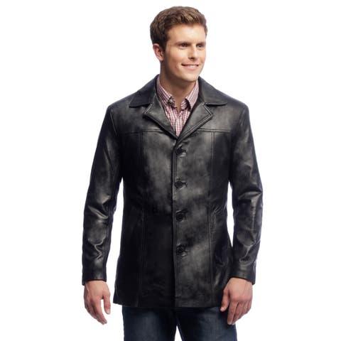 NDK New York Men's Black Lambskin Leather Jacket