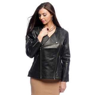 NDK New York Women's Three-in-one Lambskin Motorcycle Jacket