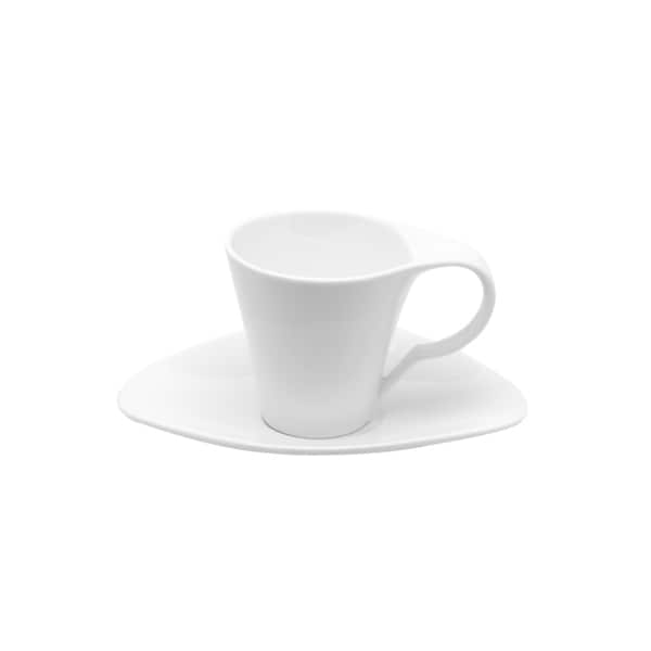Red Vanilla Fare 7-ounce 12-piece Cup and Saucer Set