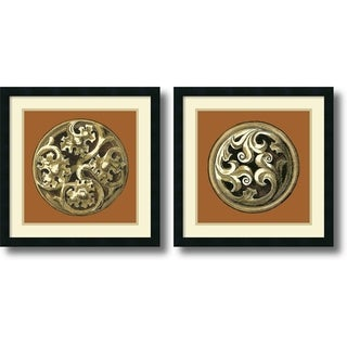 Vision Studio 'Graphic Medallion IV and V- set of 2' Framed Art Print 21 x 21-inch Each