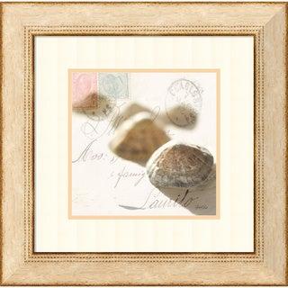 Deborah Schenck 'Postal Shells IV' Framed Art Print 23 x 23-inch