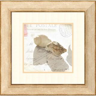 Deborah Schenck 'Postal Shells I' Framed Art Print 23 x 23-inch
