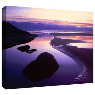 Dean Uhlinger 'Fog Bank Sunset' Gallery-wrapped Canvas