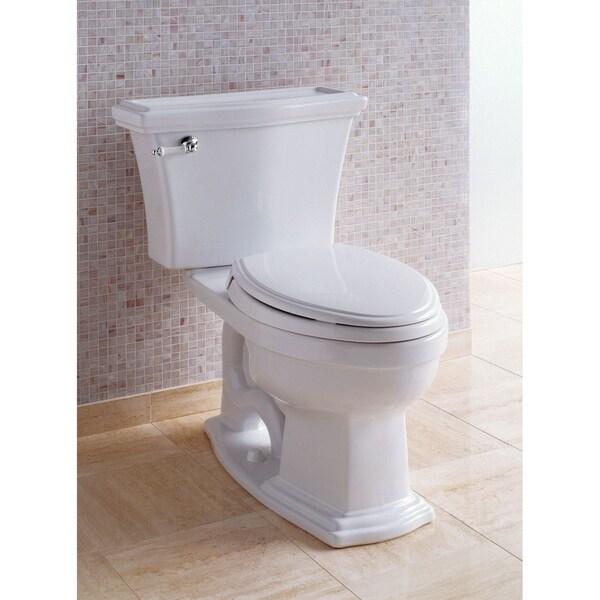Toto Clayton Two-Piece Elongated 1.6 GPF Universal Height Toilet, Cotton White (CST784SF#01)