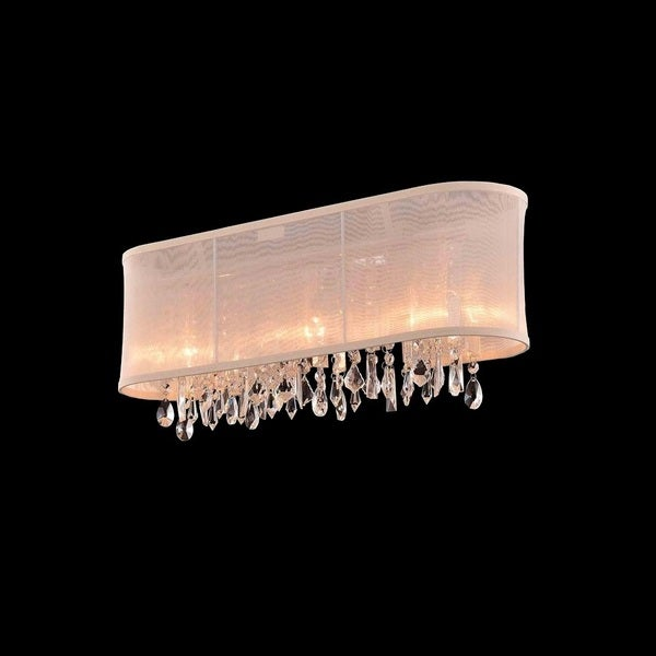 3-light Chrome/ Clear Crystal Wall Sconce