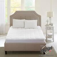 Sleep Philosophy Montview 3M Scotchgard Microfiber Mattress Pad - White