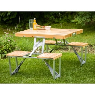 Portable Folding 4-seat Picnic Table