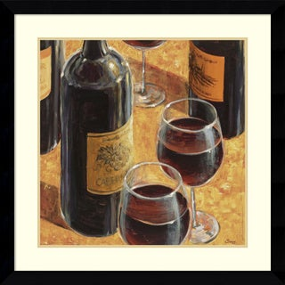 Framed Art Print 'Wine Tasting I' by Karen Emery 33 x 33-inch