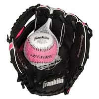 Franklin Sports 9.5-inch Black/ Pink PVC Right Handed Baseball Glove