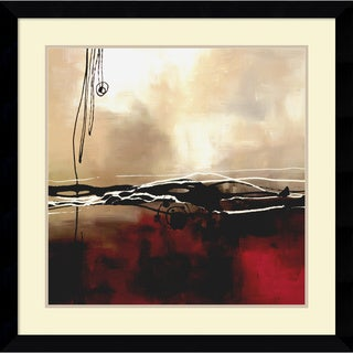 Framed Art Print 'Symphony in Red and Khaki I' by Laurie Maitland 33 x 33-inch