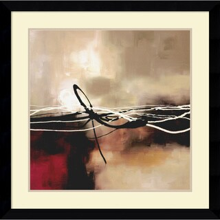 Framed Art Print 'Symphony in Red and Khaki II' by Laurie Maitland 33 x 33-inch