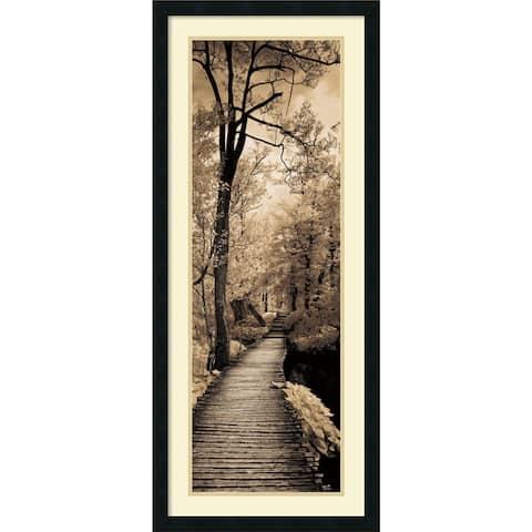 Framed Art Print 'A Quiet Stroll I' by Ily Szilagyi 18 x 42-inch